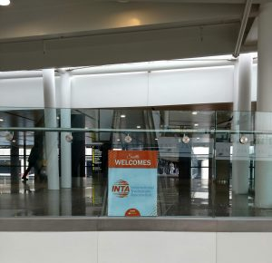 INTA Welcome Sign