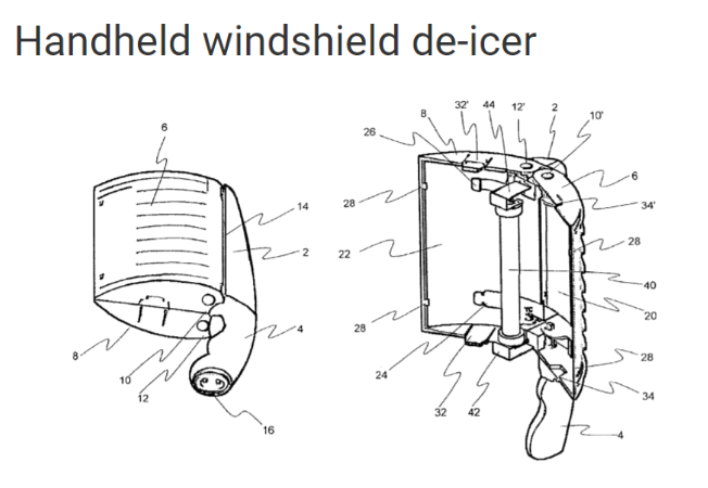 handheld windshield deicer
