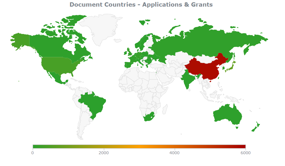 firework patent filings by country