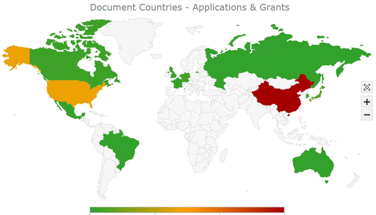 Countries of patents with 'santa claus' in the Abstract Text