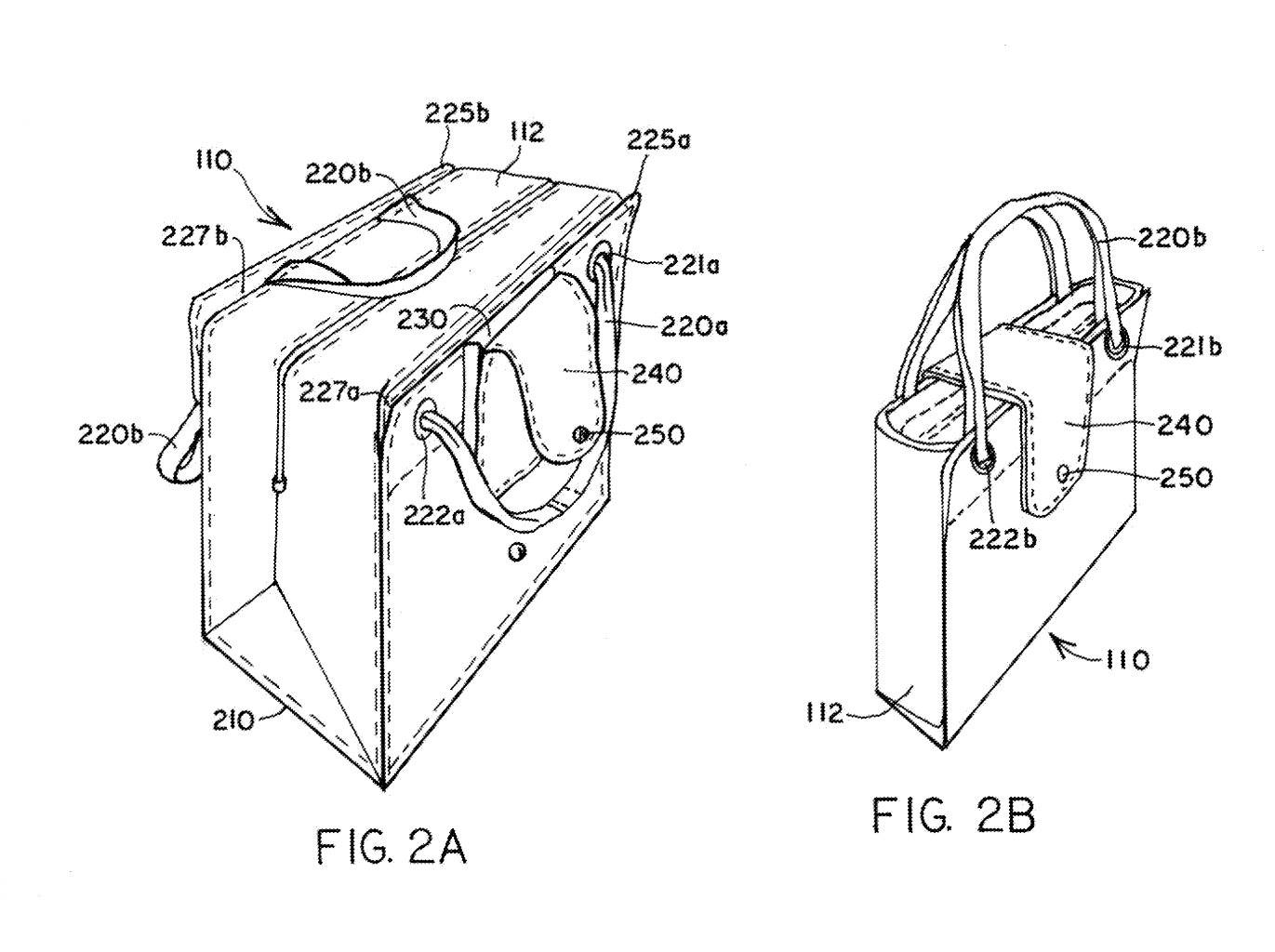 Shopping bag system patent