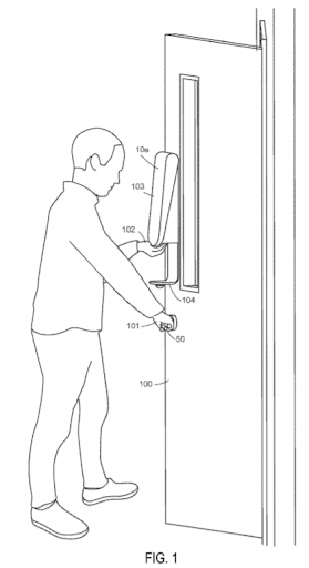 Illustration of the use of the hand sanitizer from application