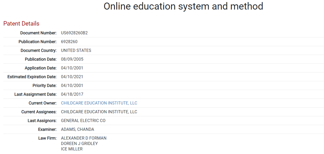 online education and method